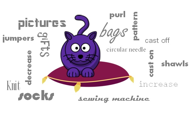 Cat on a cushion logo with text
